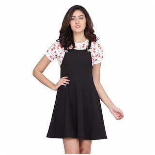 Clothzy Black Solid Fit & flare dress