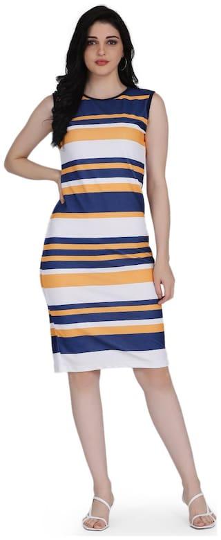 Clothzy Multi Striped Bodycon dress