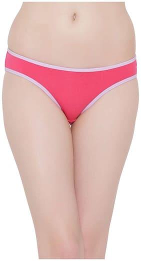Clovia 1 Bikini Brief Solid Panty - Pink