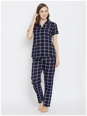 Checked Top and Pyjama Set ,Pack Of 2