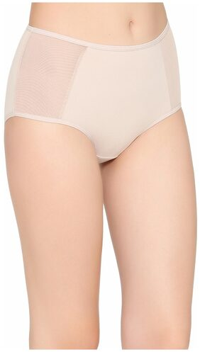 Clovia Cotton High Waist Hipster Panty With Powernet Wings