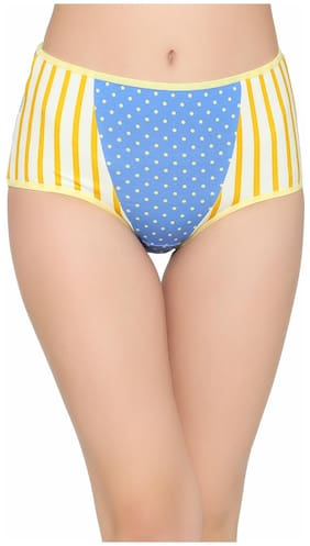 Clovia Cotton High Waist Printed Hipster Panty
