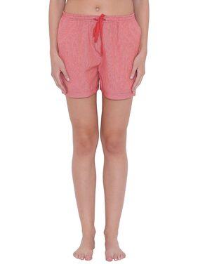 Clovia Women Printed Shorts - Pink