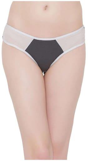 Clovia 1 Bikini Brief Solid Panty - Grey
