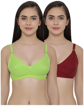Clovia Pack of 2 Full Coverage Non Padded Wirefree Full Cup Bra's