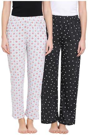 Clovia Women Cotton Floral Pyjama - Multi