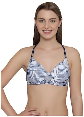 Clovia 1 Padded Polyester T Shirt Bra - Brown