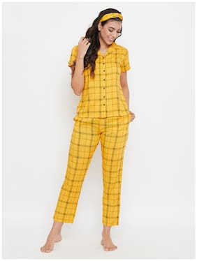 Checked Top and Pyjama Set ,Pack Of 3