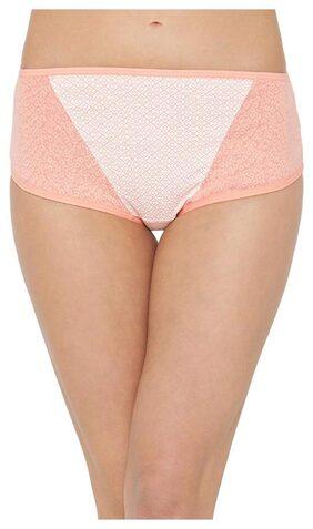 Clovia Women's Cotton Mid Waist Printed Hipster Panty (PN2675P18_White_XL)