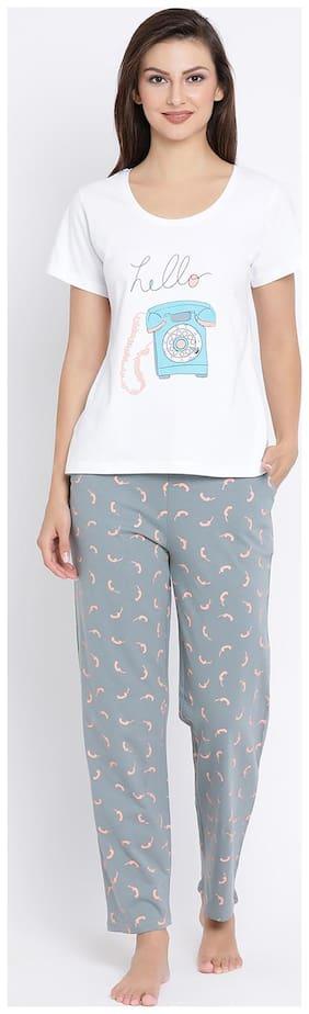Printed Top and Pyjama Set ,Pack Of 2