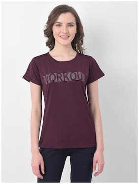 Women Slim Fit Polyester Sports T-Shirts ,Pack Of 1