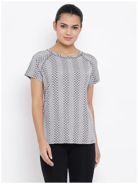 Women Slim Fit Nylon Sports T-Shirts