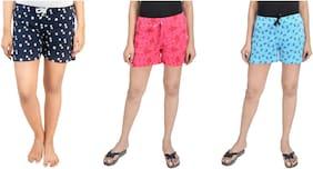 CLUB A9 Women Printed Regular shorts & Hot pants - Multi