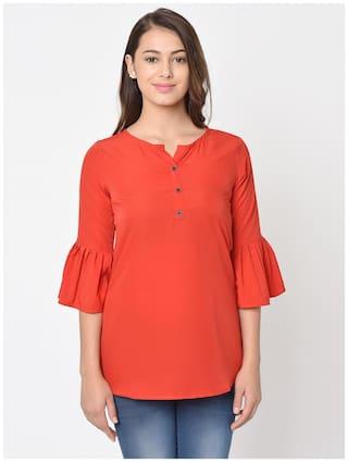 Club Fashion Women Solid Regular top - Red