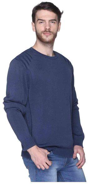 Club York Blue Acrylic Sweater