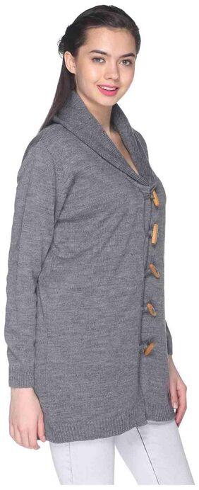 Club York Grey Acrylic Sweater
