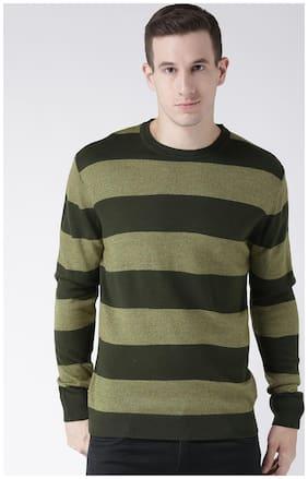 Men Blended Full Sleeves Sweater