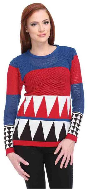 Club YORK Red Cotton Sweater