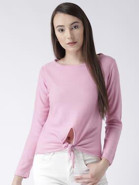 Club York women's round neck full sleeve solid sweater