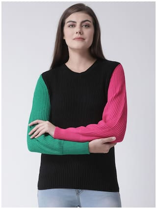 CLUB YORK Women Colourblocked Sweater - Multi