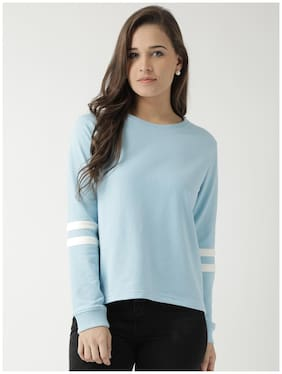 CLUB YORK Women Solid Sweatshirt - Blue