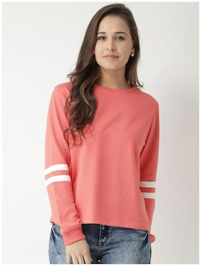 CLUB YORK Women Solid Sweatshirt - Pink