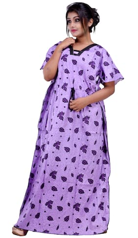 CLYMAA Purple Night Gown