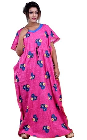 CLYMAA Pink Night Gown