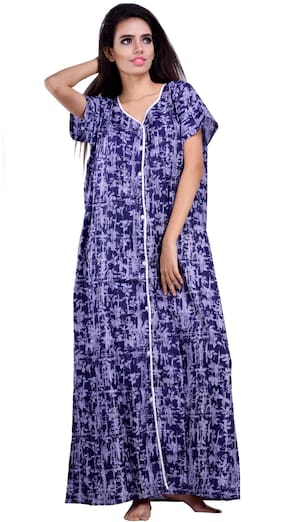 CLYMAA Blue Night Gown