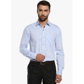 Cobb Aqua Blue Solid Formal Shirts