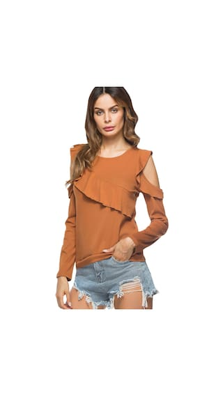 Cold Shoulder Ruffled T Cold shirt Shoulder nfqZwT8f