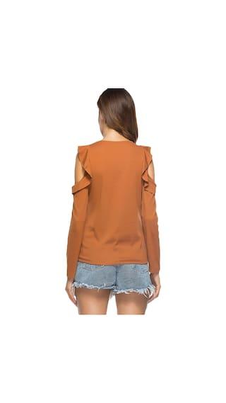 Cold Shoulder Ruffled T Cold shirt Shoulder nfqZwT8f