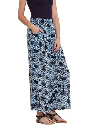 Cocktail Pant Rayon Palazzo Women's Color 7xWqdA7