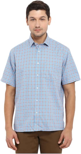 ColorPlus Blue Regular Fit Casual Shirt