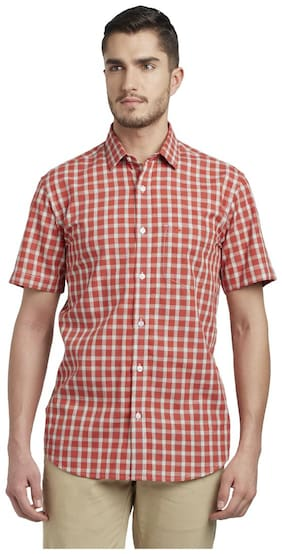ColorPlus Men Slim Fit Casual shirt - Red