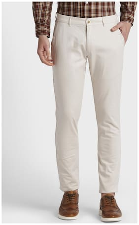 Men Regular Fit Regular Trousers Pack Of 1