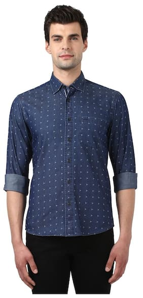 ColorPlus Men Slim Fit Casual shirt - Blue