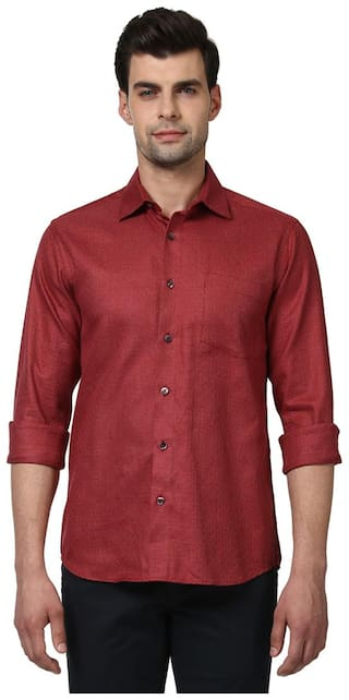 ColorPlus Men Slim Fit Casual shirt - Maroon