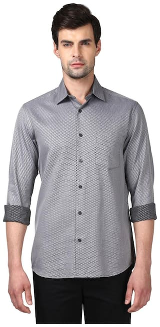 ColorPlus Men Slim Fit Casual shirt - Black
