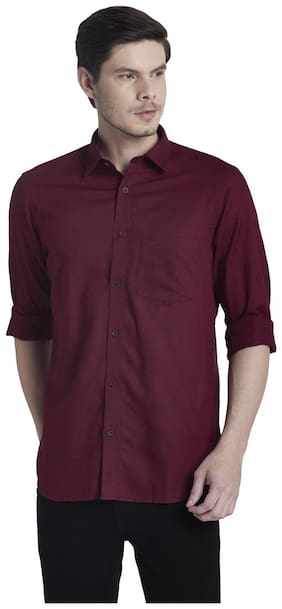 Men Regular Fit Solid Casual Shirt Pack Of 1