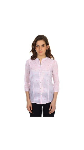 Colors couture Pink Thin Pin Shirt