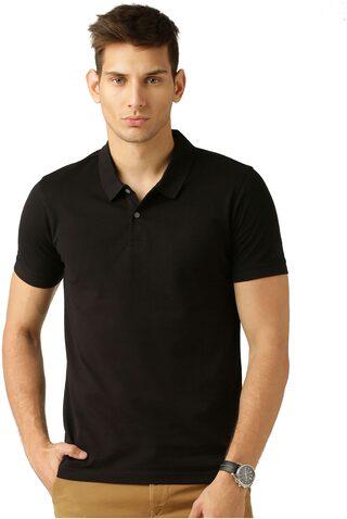 Concepts Men Regular Fit V Neck Solid T-Shirt - Black