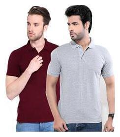 Concepts Men Slim fit Polo neck Solid T-Shirt - Multi