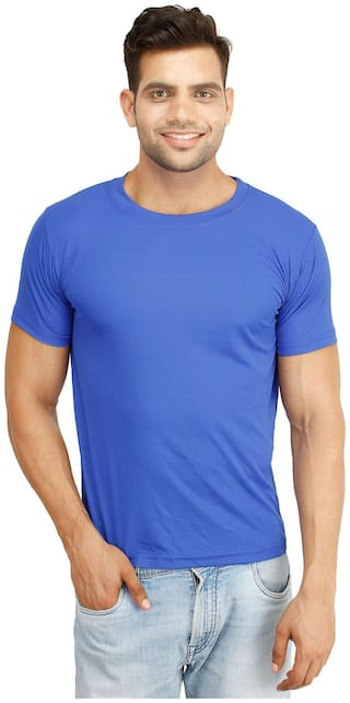 Concepts Men Blue Regular fit Polyester Round neck T-Shirt - Pack Of 1