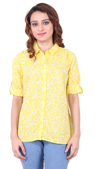 Concepts Yellow Cotton Shirt