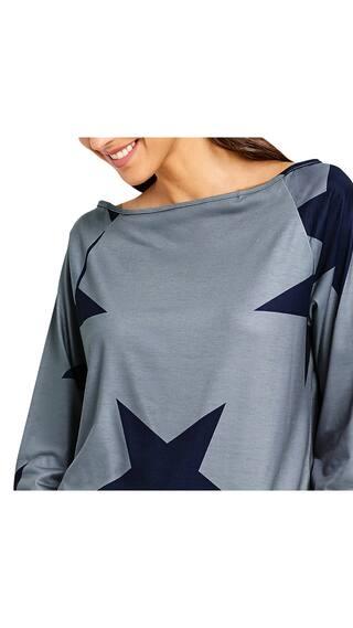 Star Sleeve shirt Convertible Print Raglan Neck T 5zS6q1v