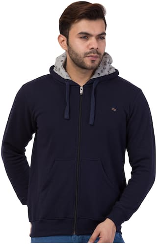 Corsair Men Blue Hooded Hoodie