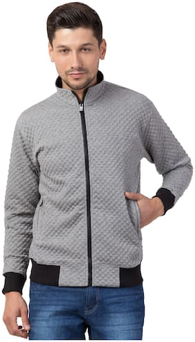 Corsair Men Regular Fit Full Sleeve Casual Wear Quilted Jacket-Grey