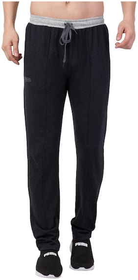 Corsair Men Grey Solid Regular fit Track pants