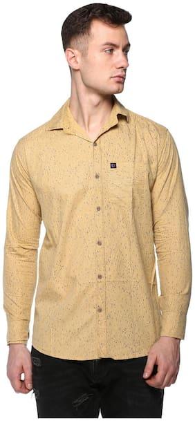 CB COTBLEND Men Slim Fit Casual shirt - Orange